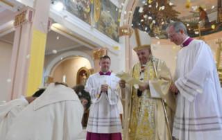 Pope Francis during Mass in Rakovsky (Vatican Media)