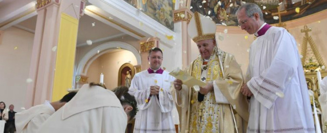 Pope Francis during Mass in Rakovsky (Vatican Media)