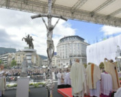 Pope Francis at Mass in Skopje, North Macedonia, May 7, 2019. (Vatican Media)