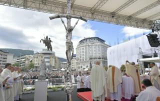 Pope Francis at Mass in Skopje, North Macedonia, May 7, 2019. (Vatican Media)