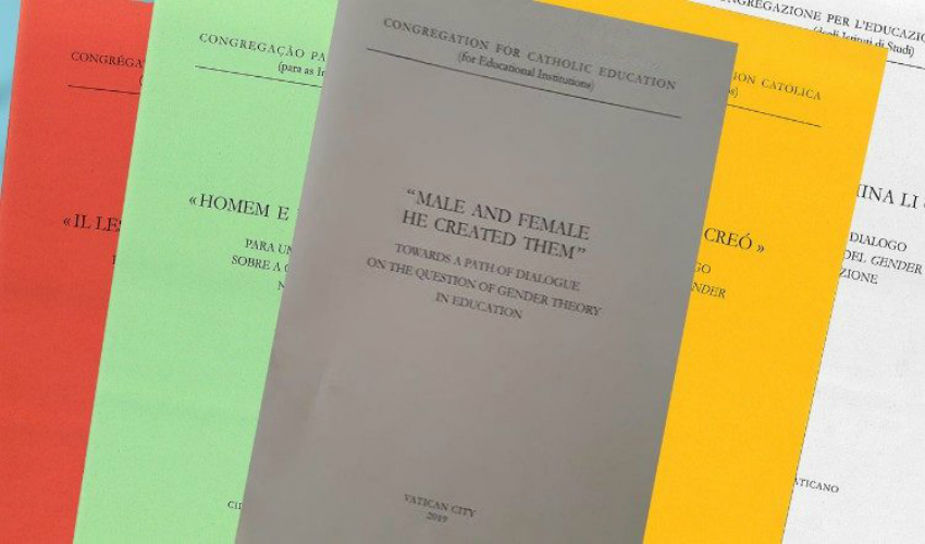 "The new document from the Congregation for Catholic Education, ""Male and Female He Created Them: Towards a path of dialogue on the question of gender theory in education"""