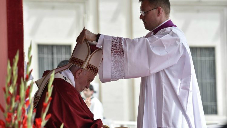 Pope Francis celebrates Holy Mass on the feast of Pentecost (Vatican Media )